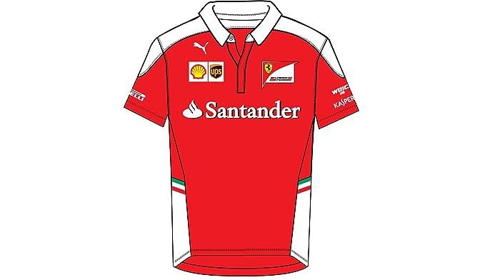 Team Ferrari Kids Racing Puma Sf F1 Shirt Red Polo SULzMpGjVq