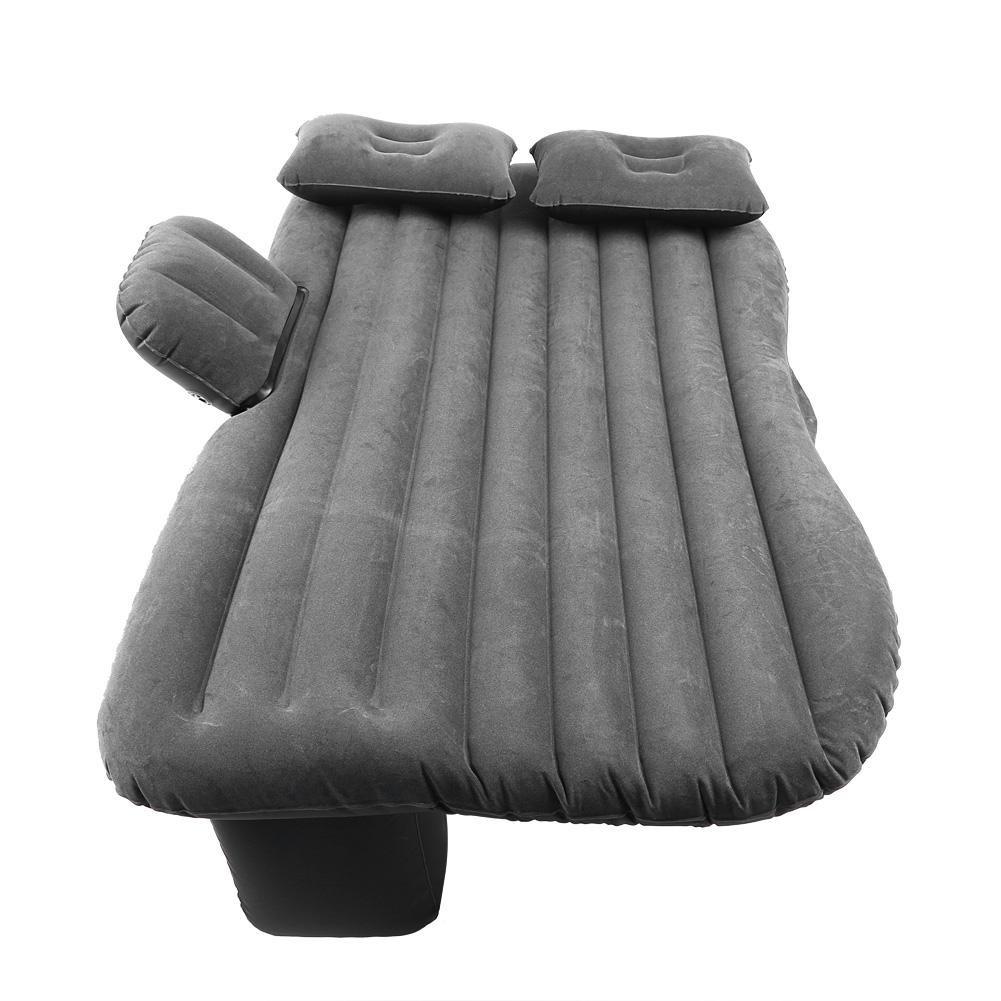 negro Cama Inflable del Coche Cama Hinchable para Coches Coche Inflable Colch/ón Multifuncional Plegable Asiento Air de Auto y 2 Almohadas,para el Reposo de Sue/ño,con bomba de aire,136x85x13cm