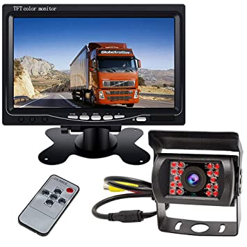 """7/"""" Monitor for RV Truck Bus 2IR Wireless Rear View Back up Camera Night Vision"""