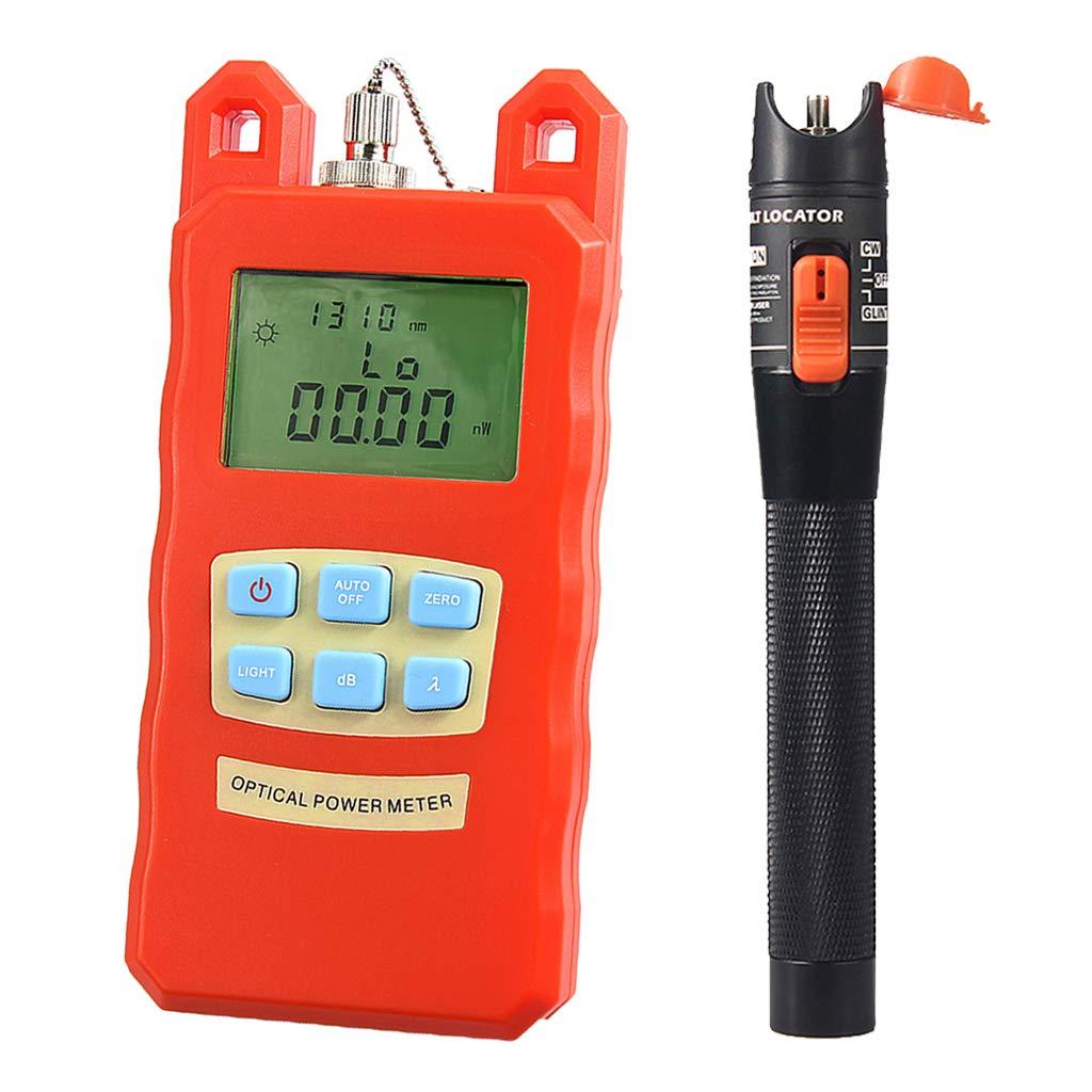SM SunniMix Pack -70dBm~+10dBm 850~1625nm Optical Power Meter Tester FC SC Handheld Optical Power Meter + 10mW Visual Fault Locator Pen by SM SunniMix (Image #8)