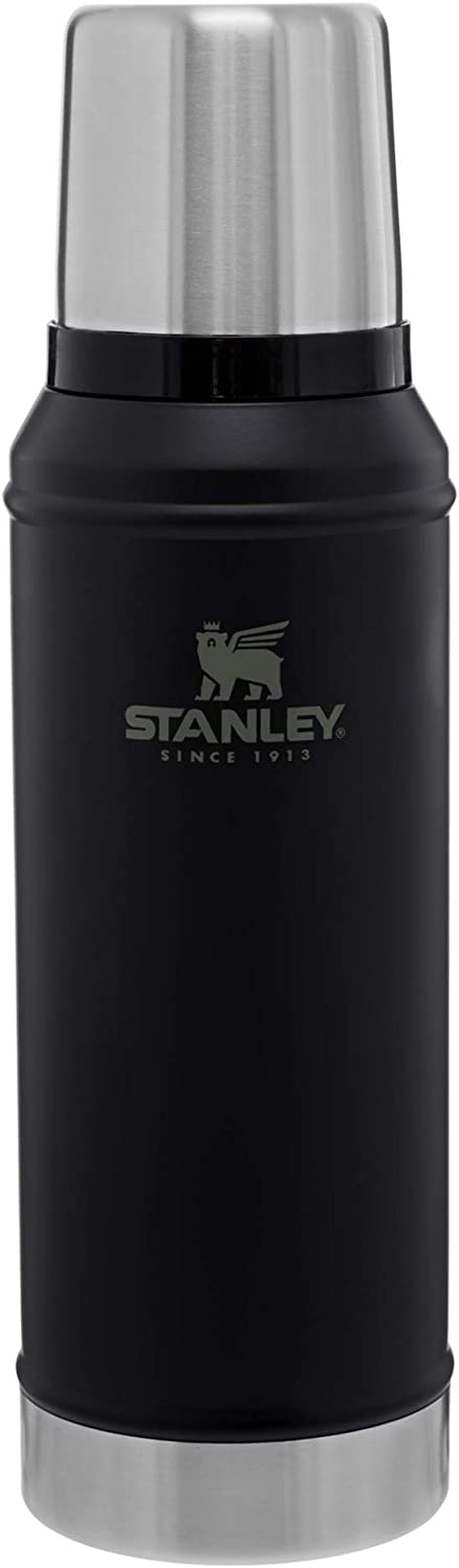Stanley Classic Vacuum Insulated Wide Mouth Bottle - BPA-Free 18/8 Stainless Steel Thermos for Cold & Hot Beverages