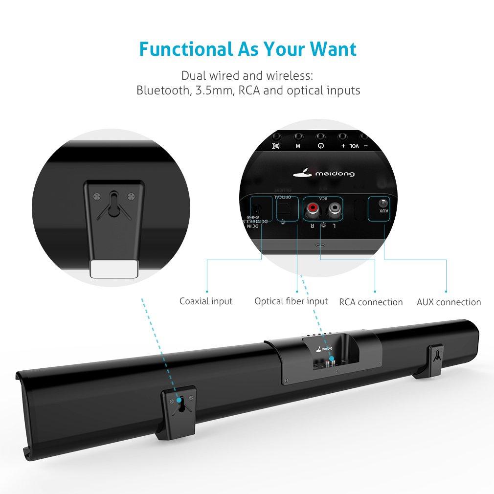 Soundbar Bluetooth Lautsprecher Meidong 2.1 Kanal 2: Amazon.de ...
