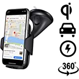 Wireless Car Charger for iPhone X/8/8 Plus   Samsung Galaxy S9/S9+ S8/S8+ S7/S7 Edge, S6/S6 Edge+   Note 8/7/6/5 (Fast Charging) and Other QI Enabled Devices, by ZALE