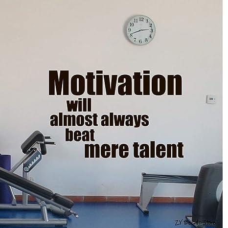 Etiqueta de la pared del gimnasio Fitness Motivación ...