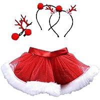 KUDICO Mini Robe Jupon Jupe de Mesh de Noël Bébé Fille Jupe Tutu Petticoat des Tutus Ballet Tulle Jupe Tutu Soirée Elastique Tulle Ballet Bubble Tutu Jupe