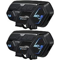 BT Intercom Headset Fodsports auriculares bluetooth casco moto intercomunicador motorbike communication system (impermeable/manos libres/música estéreo/GPS/2 pack)