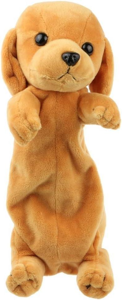 Estuche de peluche con forma de animal para niños y niñas, color Golden Retriever: Amazon.es: Oficina y papelería