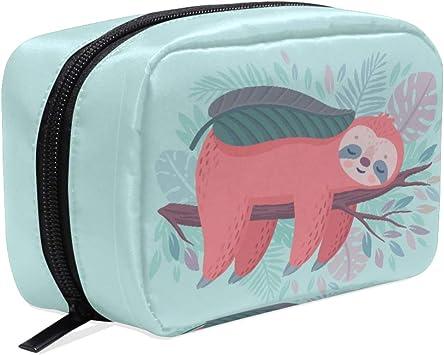 Neceser de Mano con diseño de Perezoso para cosméticos, Estuche para lápices, Bolsa organizadora de Viaje para Mujeres y niñas: Amazon.es: Equipaje