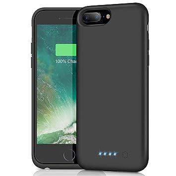 Funda Batería para iPhone 7 Plus/8 Plus/6 Plus/6S Plus, Feob Funda Cargador 8500mAh Carcasa Batería Externa Recargable Cargador Portatil Power Bank ...