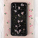 Electronics : Beautiful Safe Individualization Beautifull Green Floral Pattern TPU Case for iPhone X Perfectly match For Iphone X case (SKU : Ipxg9535f)