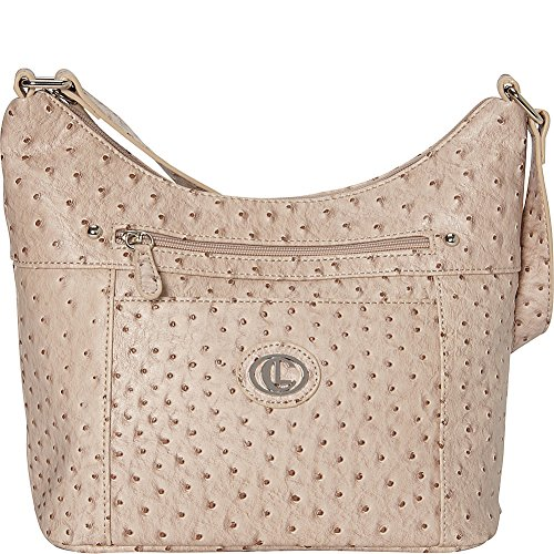 Aurielle-Carryland Ostrich Hobo (Oatmeal)