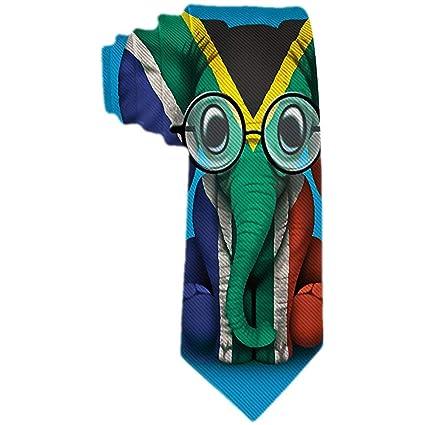 Hombres S Corbata Bebé Elefante Con Gafas Y Bandera De Sudáfrica ...