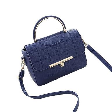 Damen Wilde Umhängetasche Mode Handtasche Kleine Quadratische Tasche Messenger Bag Einfache Atmosphäre Elegant,Grey1-OneSize GKKXUE