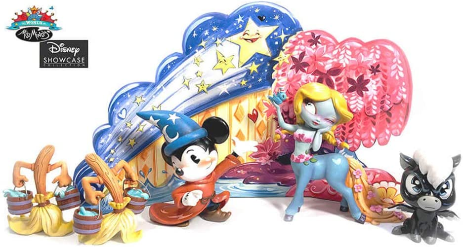 "Enesco World of Miss Mindy Disney ""Fantasia"" -Edition Set of 5 Stone Resin Figurine, Multicolor"