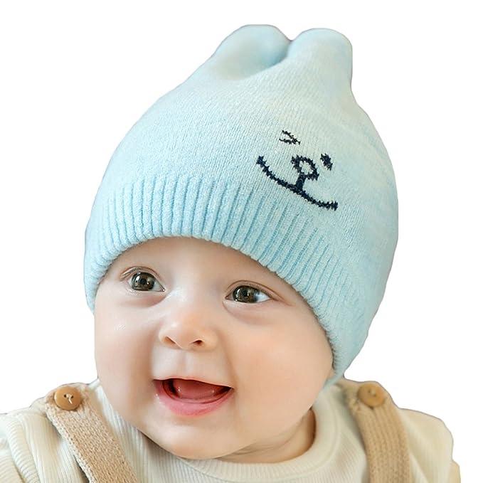 Bambino Cappello Bello - Ragazzi Ragazze Caldo Beanie a Maglia Inverno  Berretto con Carina Coniglio Orecchie a0ea4bee7257