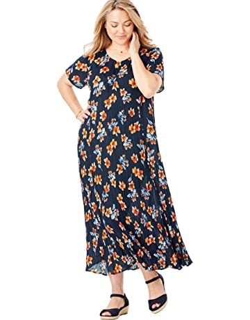 d158155fcc4c Woman Within Women s Plus Size Petite Crinkle Dress