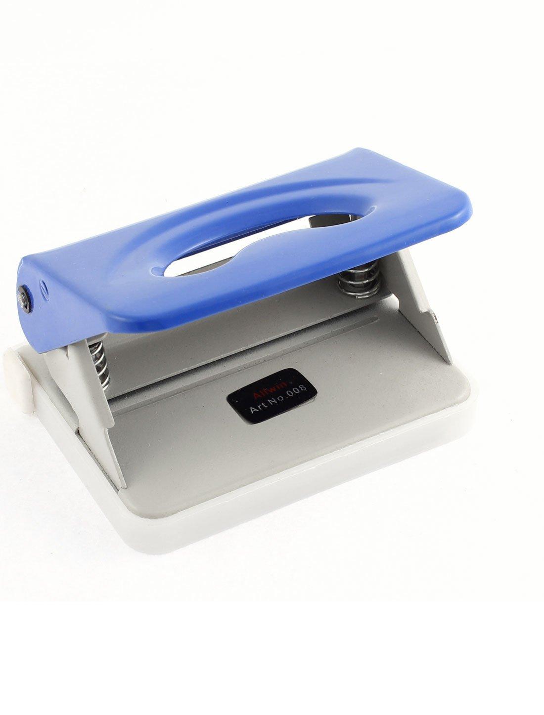 80mm Trou Distance Double trous DE 6 mm Appuyez sur Type de Papier perforé outil bleu