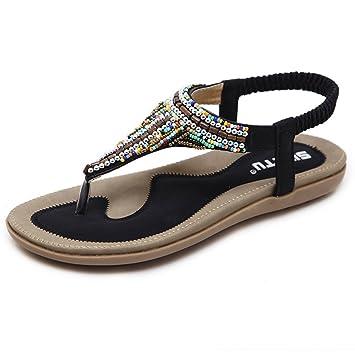 Damen Sommer Hausschuhe Atmungsaktive Flache Mode Freizeitschuhe Sandalen ( Farbe : 5 , größe : EU37/UK4.5-5/CN37 )