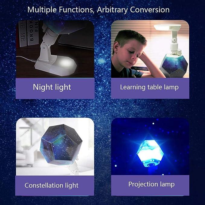 Creativa Lámpara de Proyección USB Lámpara de Mesa Luz de la Noche ...