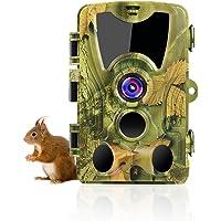 SUNTEKCAM Cámara de caza de 24 MP 1080P para visión nocturna por infrarrojos, detector de movimiento IP66, antipolvo…