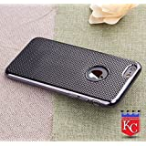 KC Soft Silicon Bright NETDI Back Cover for iPhone 6 & iPhone 6s - Black Color