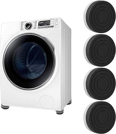Freebily 4Pcs Almohadillas Antideslizantes para lavadora Secadora Almohadillas Goma Antivibracion Anti-Salpicadura para Pata de Mesa Muebles Escalera Pies Protectores de Suelo Negro&Gris One Size: Amazon.es: Ropa y accesorios