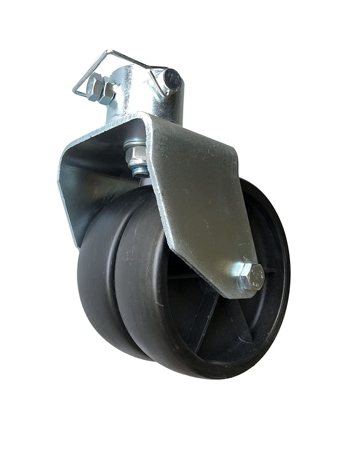EZ Travel Collection Double Wheel Trailer Jack Caster with Pin (2500 Pound Rated) EZ Travel Distribution