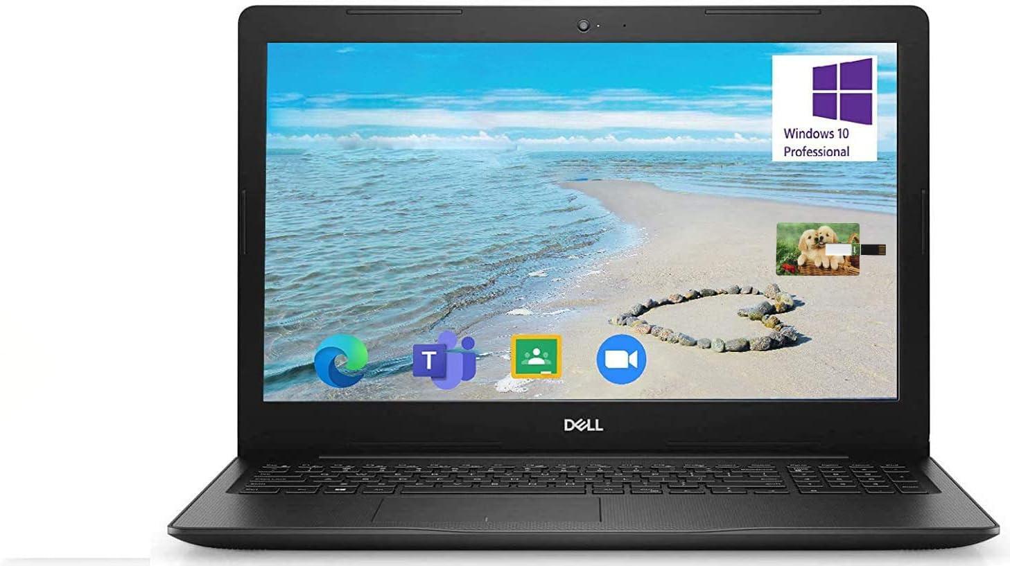 Dell Inspiron 15.6 inch Laptop, 10th Gen Intel Core i5-1035G1, 16GB RAM, 512GB SSD, Windows 10 Pro, for Business; HDMI, WiFi, Intel UHD Graphics, Bluetooth, Online Class, Webcam