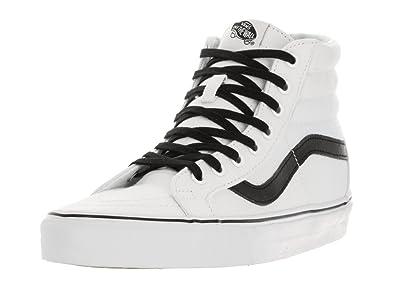 vans skate hi white black