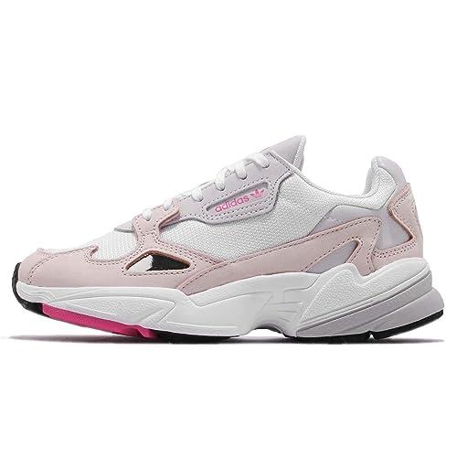 5f8af89a41e Amazon.com | adidas Women's Falcon W, Footwear White/ICE Pink/Grey ...