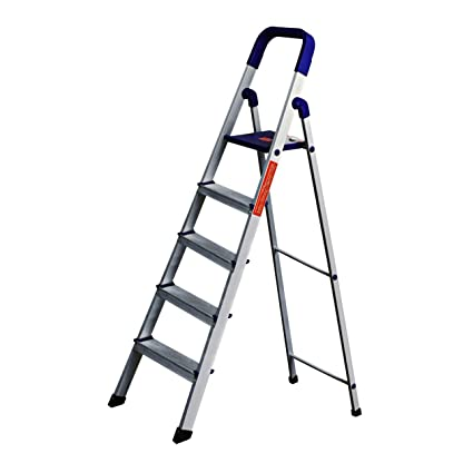 Parasnath Home Pro 5-Steps Folding Ladder (Blue)