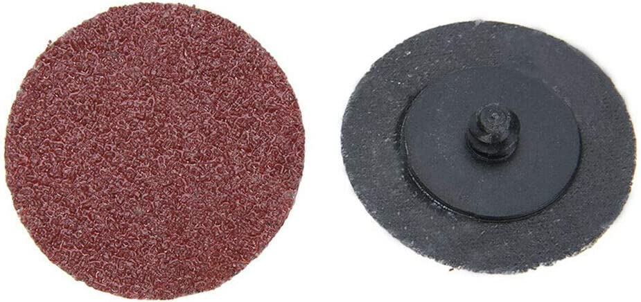 50 x Disques de pon/çage Roll Lock,Diam/ètre 50mm 2 pouces ,grain 60# feuilles de pon/çage disques /à polir /écrous de roue environ