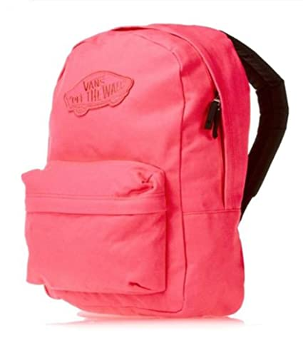eadcce91a8444 Amazon.com: VANS Realm Backpack Book Bag Neon Pink Orange (Red ...