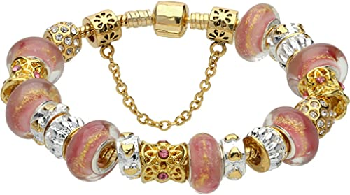 Amazon Com Jewelry Gold Plated Pandora Style Charm Fashion