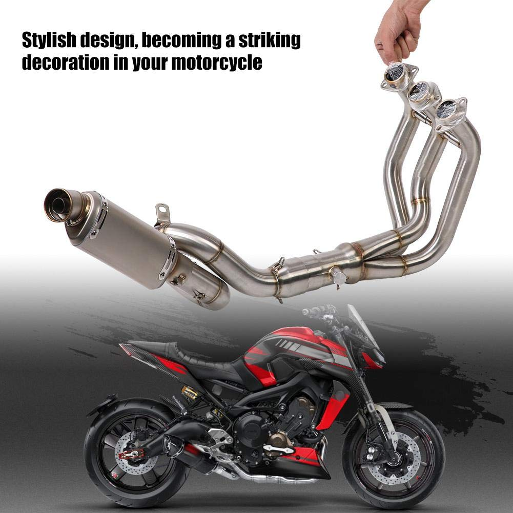 Full Exhaust System Motorcycle Front Link Pipe Tail Pipe Slip On Motorcycle Exhaust System for MT-09//FZ-09 2014-2018