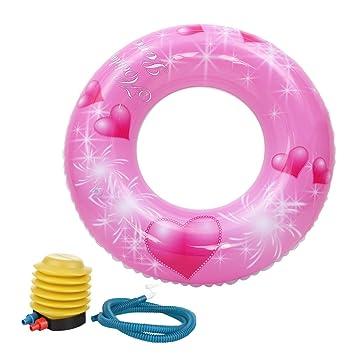 GEMVIE Flotador Anillo Infantil Salvavidas Inflable para Natación Rosa Diámetro/80cm: Amazon.es: Juguetes y juegos