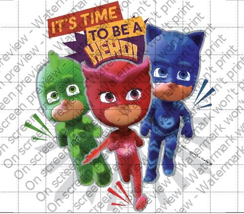 Amazon.com: PJ Masks Its Time To Be a Hero Licensed Edible 8