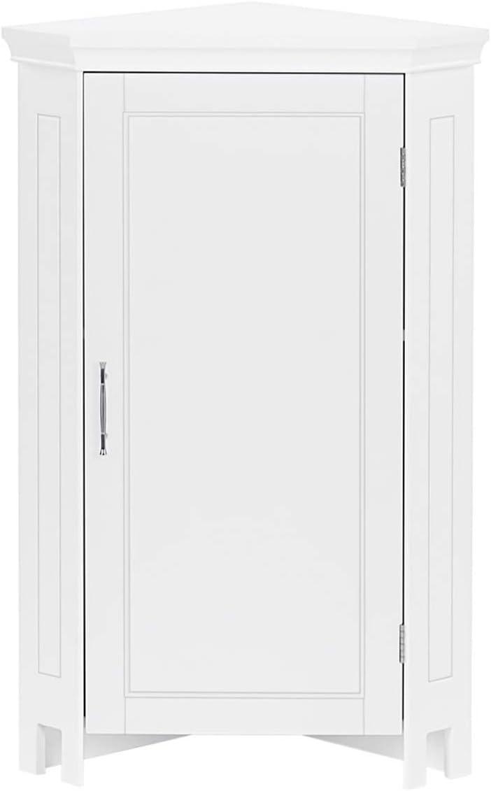 RiverRidge Somerset Single Door Corner Floor Cabinet, White