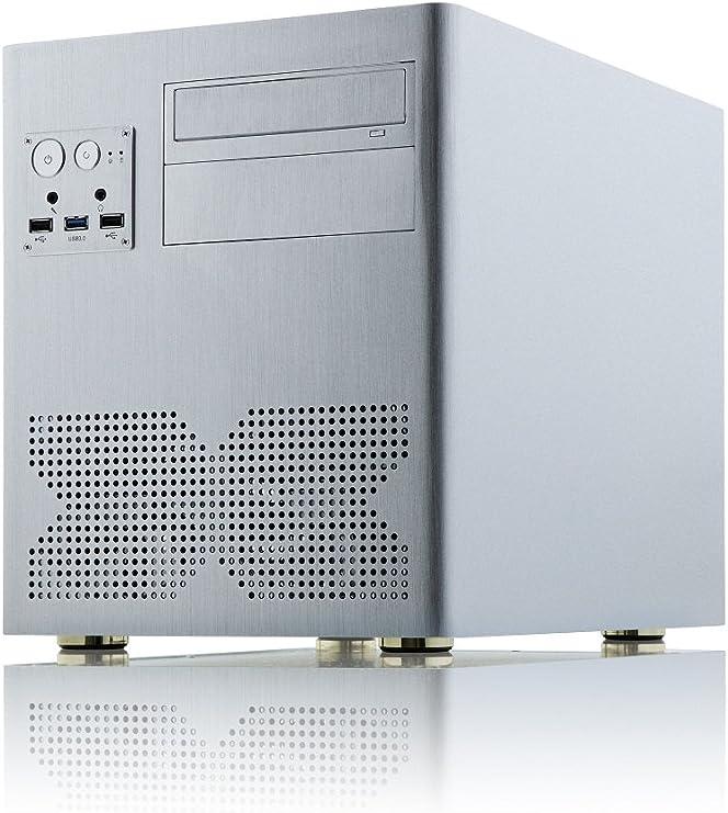 Xigmatek Gigas Escritorio Plata - Caja de Ordenador (Escritorio, PC, Aluminio, Plata, Micro ATX, 16 cm): Amazon.es: Informática