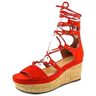 Womens Sandals COACH Barkley Carmine Suede