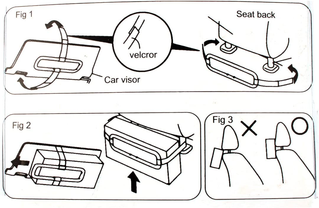uxcell Plastic Shell Motors Car Sun Visor Headrest Strap Holder Towel Sets Clip Black US-SA-AJD-225831