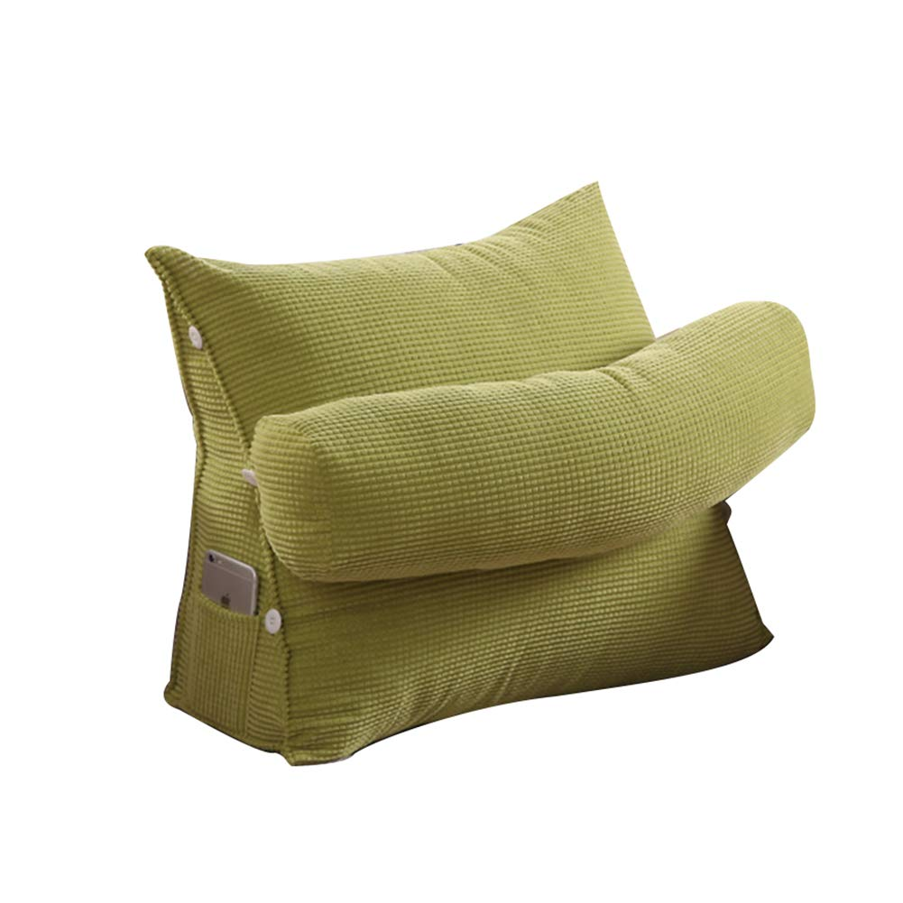 PENGFEI Bedside Cushions Single Soft Cushion Office Waist Pillow Neck Protection Third Gear Adjustment Triangle Washable, 10 Colors, 2 Sizes
