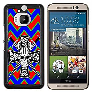Dragon Case - FOR HTC One M9+ / M9 PLUS - ?Fowering is past - Caja protectora de pl??stico duro de la cubierta Dise?¡Ào Slim Fit