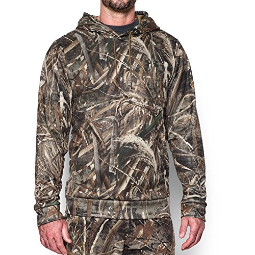Under Armour Men's Storm Camo Hoodie, Realtree Max 5/Saddle, Medium (Under Armour Realtree Camo Shirt)