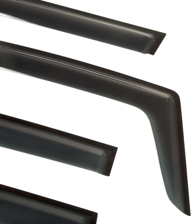 Rugged Ridge 11349.15 Matte Black Acrylic Front and Rear Window Rain Deflectors for 2015-present Jeep Renegade BU 4 Door Models