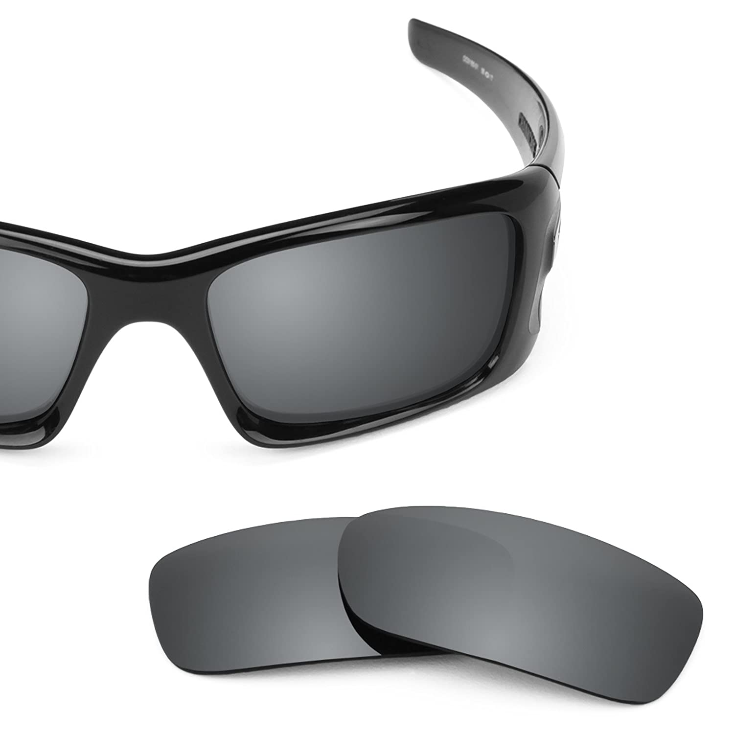 Revant Polarized Replacement Lenses for Oakley Crankcase Black Chrome  MirrorShield at Amazon Men\u0027s Clothing store: