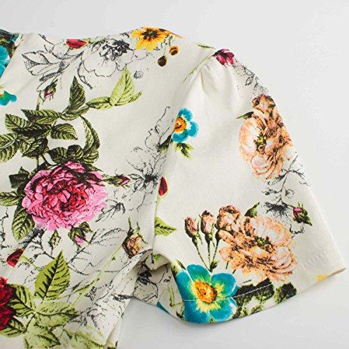 Aecibzo Des Femmes De Robe Vintage À Manches Courtes Floral Rockabilly Des Années 1950 Robe Swing Jaune