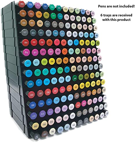 Spectrum Noir Aqua Markers Deluxe Set with Storage Trays 48 Markers NEW