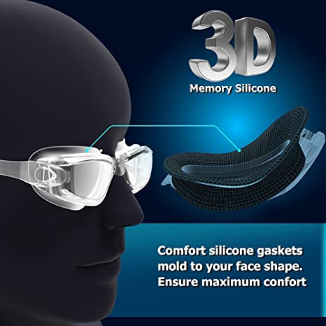 Zerhunt Swim Goggles Swimming Goggles UV 400 Protection Anti Fog No Leaking Wide View Pool Goggles with Ear Plug Nose Clip /& Protective Case for Women Men Adult Youth Kids