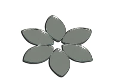 Glasso Lens Shape Kastipan Glass Mirror 8mm 400 Pieces for Arts & Crafts Project Framing Decoration Embroidery